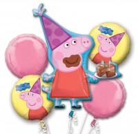 5 Folienballons fröhliches Ferkel
