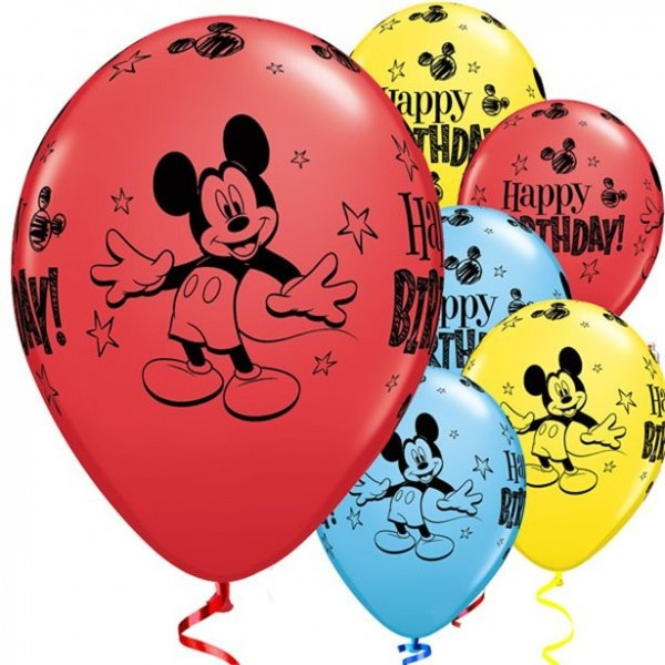 25 Mickeys Birthday Party Luftballons 28cm