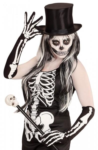 Skeleton Bones Handschuhe 50cm