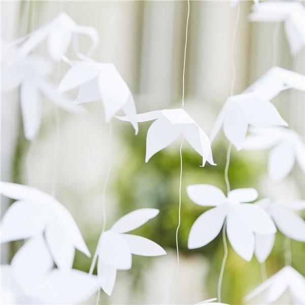 12 appendini per fiori di carta 1,8 m