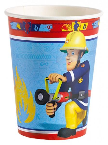 Feuerwehrmann Sam Pappbecher Rettungseinsatz 266ml 1