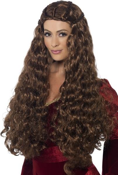 Mittelalter Haarpracht Damen Perücke Braun