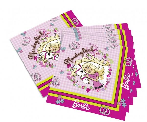 20er Pack Serviette Barbie Kindergeburtstag 33x33cm