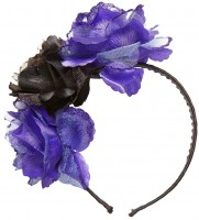 Rosy Haarreif mit Rosen Schwarz-Violett