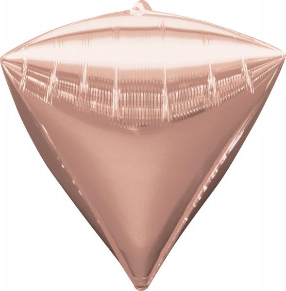 Globo de diamantes en oro rosa 38 x 43cm