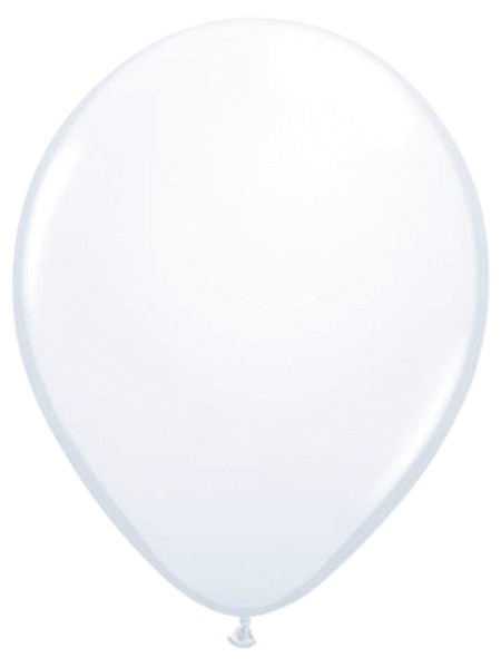 10 Weiße Luftballons Helene 30cm