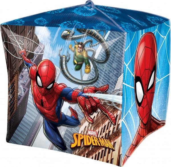Würfel-Folienballon Spider-Man 38cm