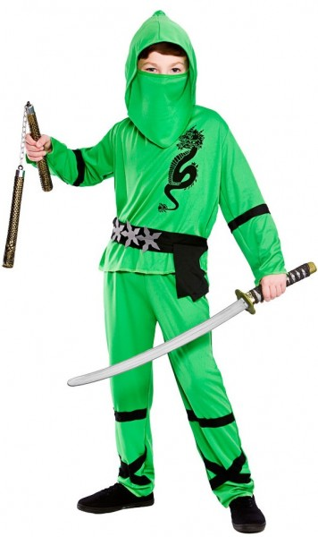 Costume per bambini Nino Ninja in verde