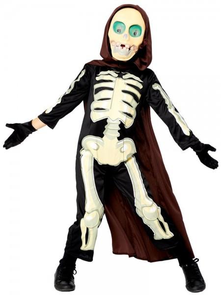 Crazy Grim Reaper Skelett Kostüm für Kinder