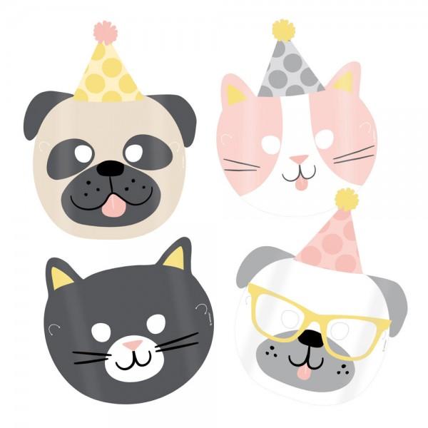 8 Happy Animals Party Masken