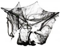 Spinnweben mit Dekospinnen schwarz 60g