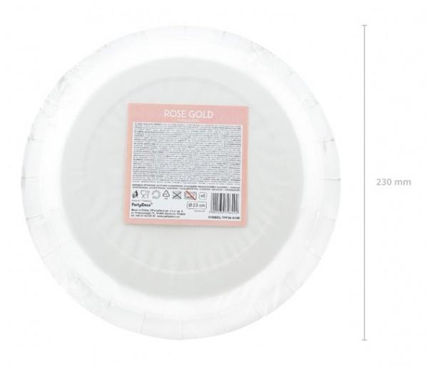 6 Metallic Pappteller roségold 23cm 4