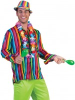 Regenbogen Hippiehemd für Herren