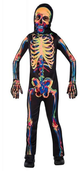 Costume da scheletro luminoso per bambini