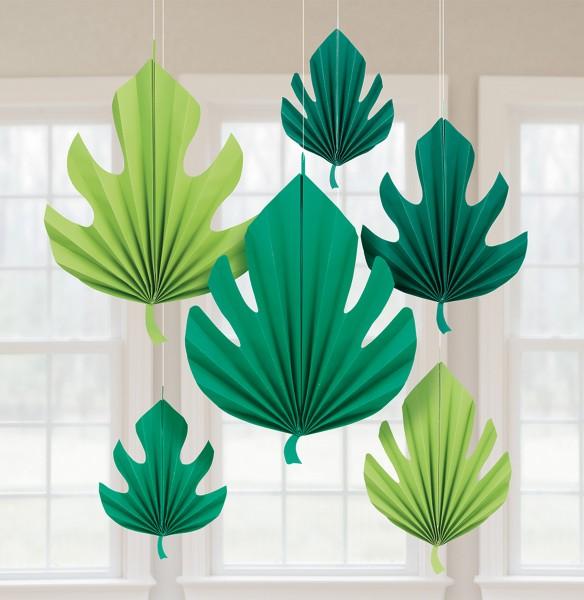 8 colgadores de hojas de palmera Fiji