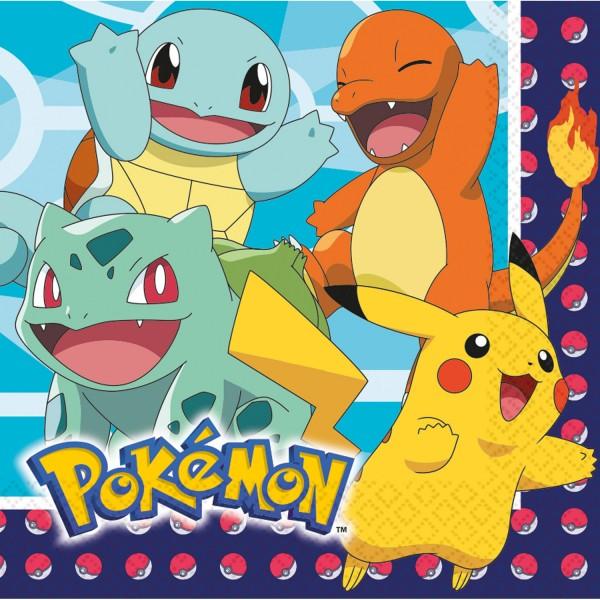 16 servilletas Pokémon Master 33cm