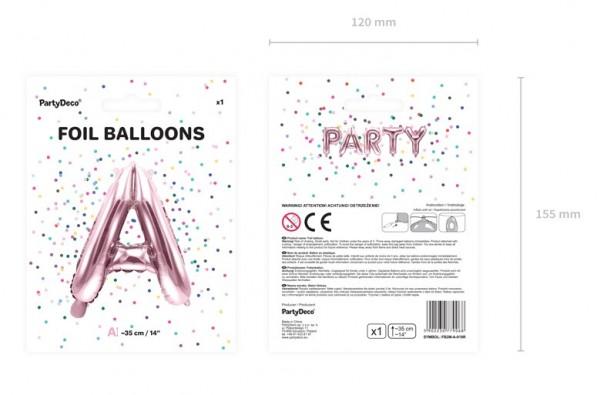 Folienballon A roségold 35cm 5