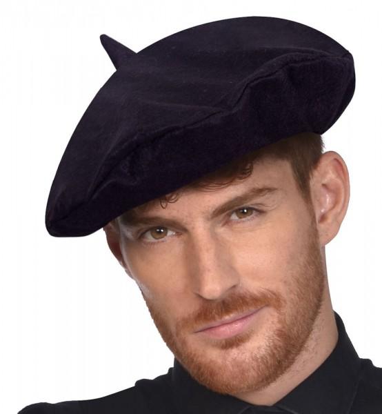 Schwarze Baskenmütze Pierre