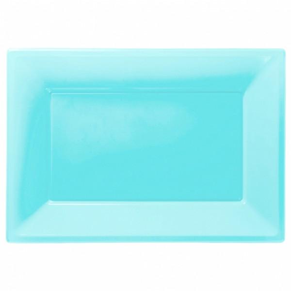 Serving plate Markus in azure blue