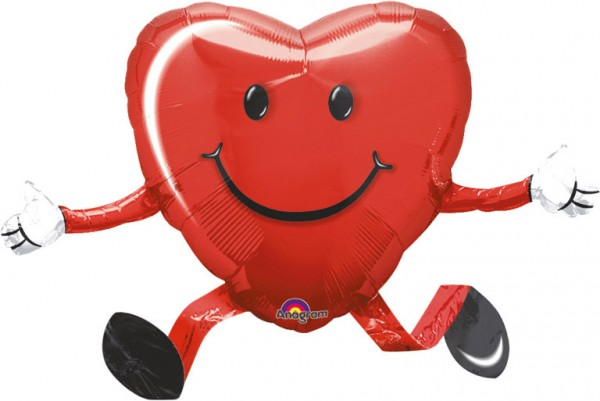 Heart balloon Love is in the air 48cm