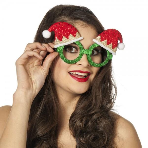 Glitzer Weihnachts Partybrille 1
