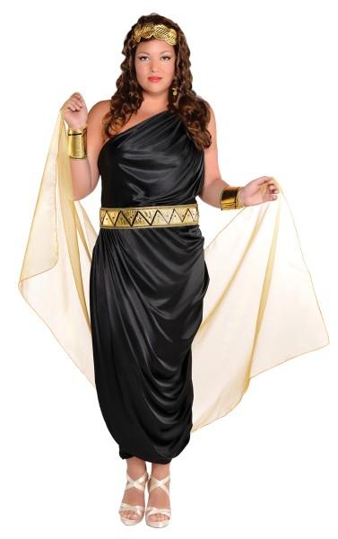 Zwarte Romeinse vrouw Solana jurk