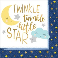 16 Twinkle Little Star Servietten 33cm