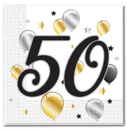 Goldene Milestone 50 Servietten 20 Stk. 1