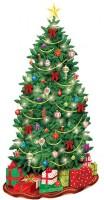 Weihnachtsbaum Wandkulisse 85cm x 1,65m