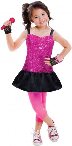 Popstar Pauline Kostüm für Mädchen