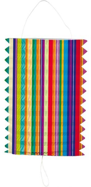 Colorful stripes lantern 16cm