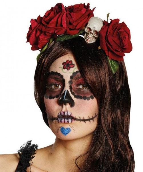Bandeau Day Of The Dead Rosy