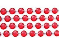 Kristall Perlen Hänger rot 1m