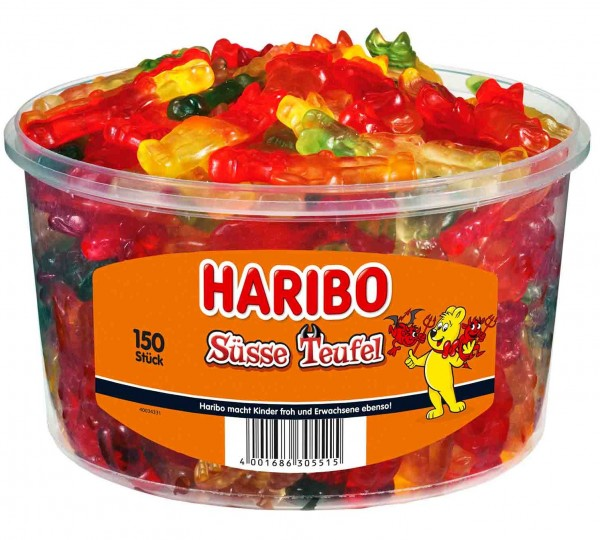 150 Haribo Süße Teufel Fruchtgummis 1,2kg