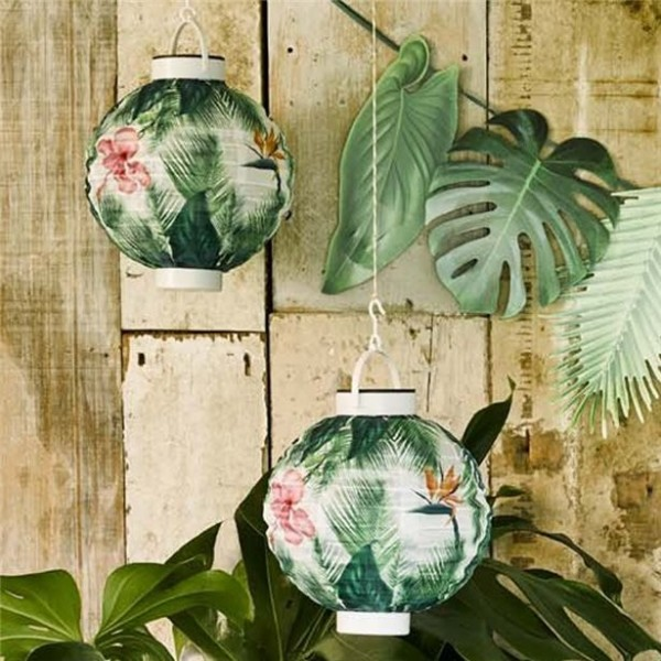 Tropical Summer Solarbetriebener Lampion 18cm