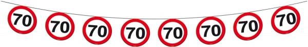 Verkehrsschild 70 Wimpelkette 12m