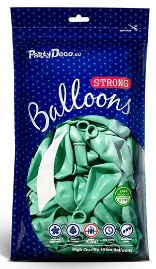50 Partystar metallic Ballons mint 23cm