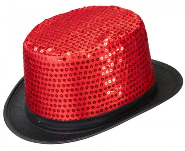 Sequin cylinder red