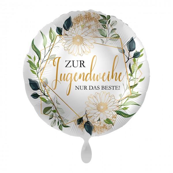 Zur Jugendweihe Folienballon floral 43cm