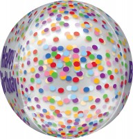 Orbz Ballon Happy Birthday Konfetti