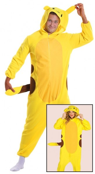 Yellow chinchilla overall for adults