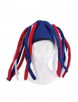 Frankreich Mütze mit Rastazöpfen