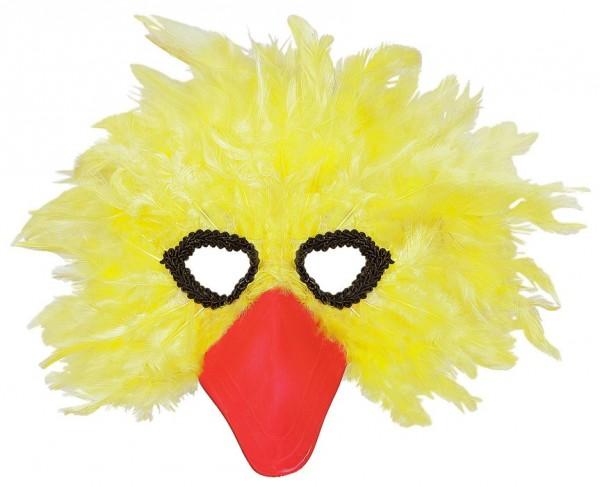 Gelbe Vogelmaske Mit Federn