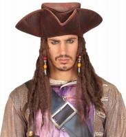 Gilman Piratenhut Mit Haaren In Lederoptik