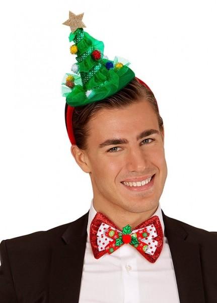 Haarreif mit Weihnachtsbaum