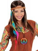 Regenbogen Peace Hippie-Kette