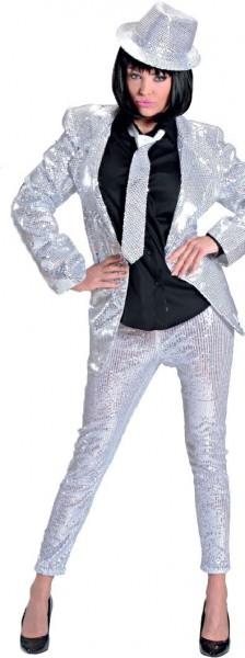 Zilveren legging met lovertjes