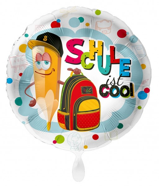 Schule ist cool Folienballon 43cm