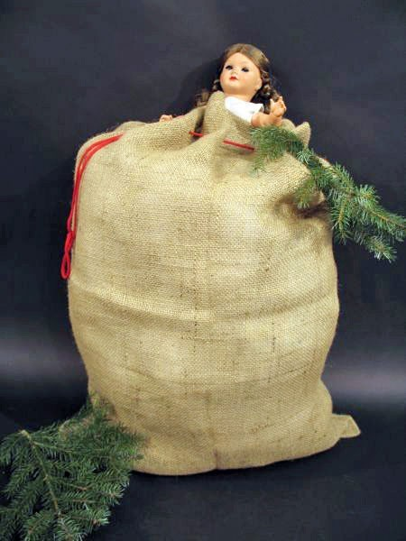 Sac en jute Mr Santaman 60 x 90cm
