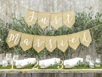 Just married Jute Girlande 1,85m x 23cm